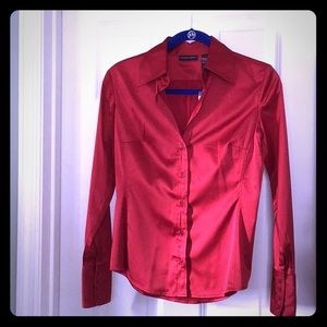 👜NEW🌹New York & Company Hot Red👄 blouse